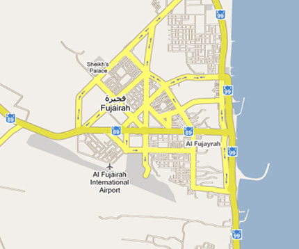 Map of Fujairah